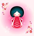 sakura doll vector image