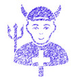 satan priest icon grunge watermark vector image