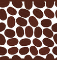 seamless pattern of coffee beans robusta vector image vector image