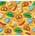 seamless pattern on Oktoberfest vector image