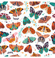 seamless pattern with colorful hand drawn vector image vector image