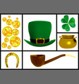 set images for patricks day vector image