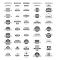 Set of labels and stickers vector image