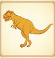 Sketch t-rex dinosaur in vintage style vector image vector image