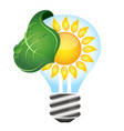 solar light bulb vector image