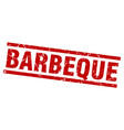 square grunge red barbeque stamp vector image vector image