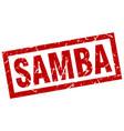 square grunge red samba stamp vector image vector image