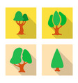tree and nature icon vector image