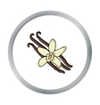 Vanilla icon in cartoon style isolated on white vector image vector image
