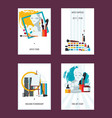 vertical set with fine art cards templates flat vector image vector image