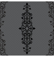 Vintage background ornament black frame vector image vector image
