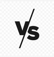 vs versus letters icon vector image