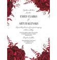 wedding floral invite invitation card design vector image vector image