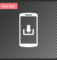 white smartphone with download icon isolated on vector image vector image