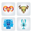 Zodiac icons vector image vector image