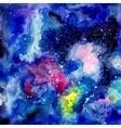 Cosmic watercolor background vector image