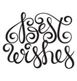 best wishes lettering typography design vector image