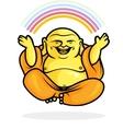 Happy Buddha Rainbow vector image