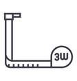 tapemeasure line icon sign vector image