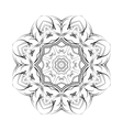 Round ornamental floral shape black vector image