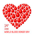 14t june world blood donor day medical and vector image vector image