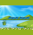 a nature lake landscape vector image