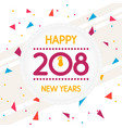 abstract of happy new year vector image