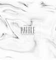 beautiful black and white marble texture vector image