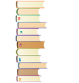 books with bookmarks vector image vector image