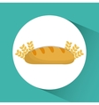 Bread wheat ears bakery icon graphic vector image vector image