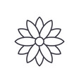 calendula line icon concept calendula flat vector image