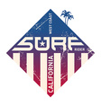California west coast surfers Pacific Ocean team vector image vector image