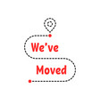 change location badge like moving vector image vector image