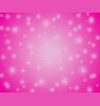 christmas rpink shiny background with snowflakes vector image
