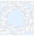 Circular frame of white paper branches and leaves vector image vector image