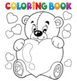 coloring book valentine theme 9 vector image vector image