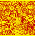 crazy new york red-yellow pattern vector image