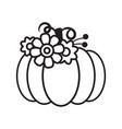 cut out pumpkin decorative set vector image vector image