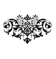 decorative classic floral element for your design vector image vector image