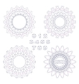 Decorative rosettes and numbers vector image vector image