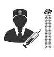 doctor icon with professional bonus vector image vector image