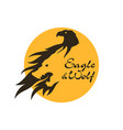 eagle and wolf silhouette cut out icon vector image vector image