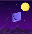 ethereum chrystal rocket launching towards to the vector image vector image