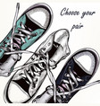 Fashion background with sports boots sneakers