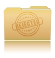 Folder with Rejected damaged stamp vector image vector image