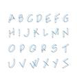 Font letters minimalistic line logo vector image
