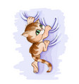 funny cute striped kitten vector image vector image