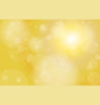 gold yellow bokeh abstract background vector image