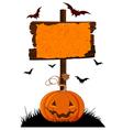 Halloween Wooden Sign vector image vector image