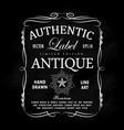 hand drawn frame antique label blackboard retro vector image vector image